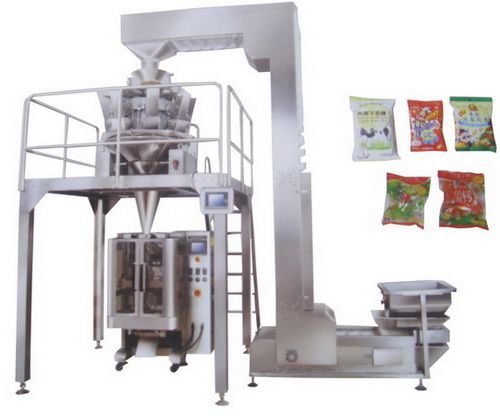 Puffed food packaging machine