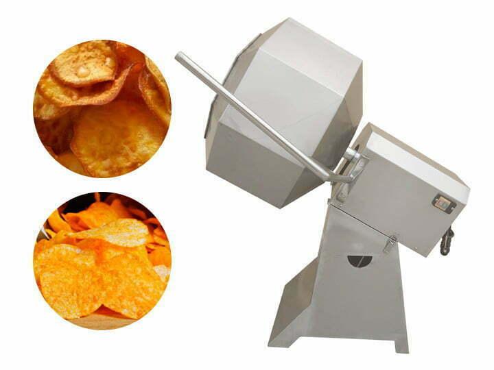 Octagonal potato chips seasoning machine