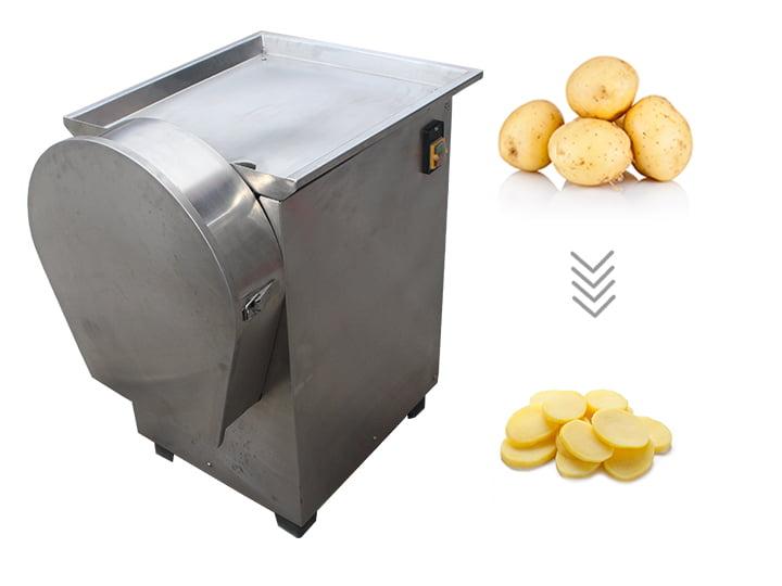 Rotating potato chips cutter