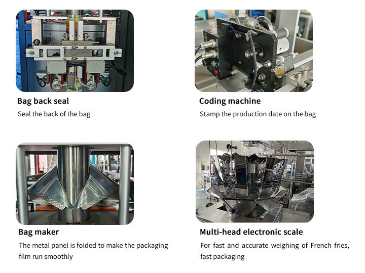 automatic french fries weighing sealing machine details