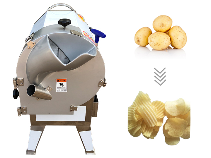 chips cutting machine for cutting wavy chips