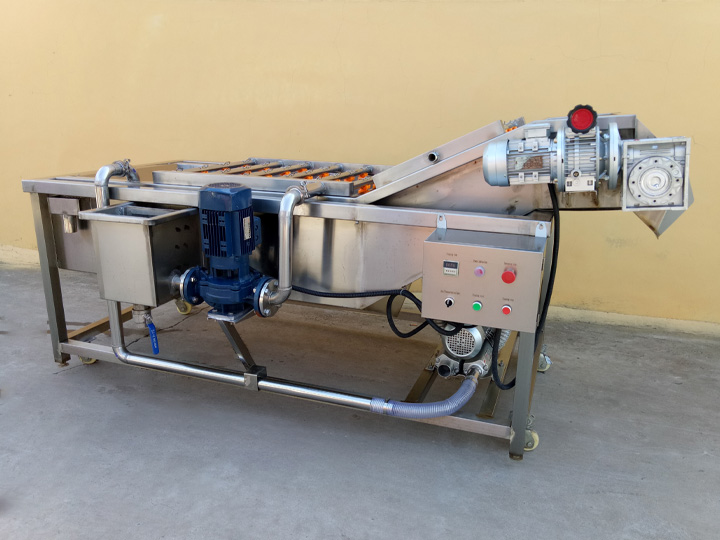 commercial potato cleaning machine