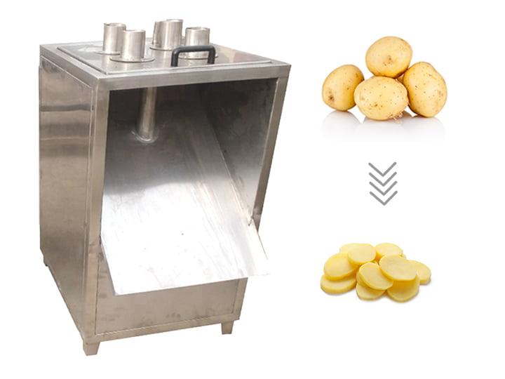 down pressure potato chips slicing machine