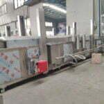 gas mesh belt chips frying machine