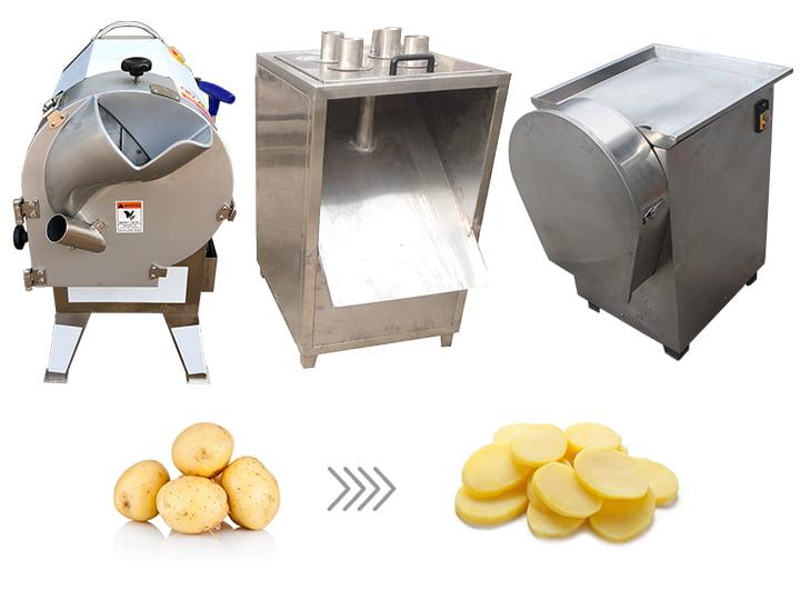 potato chips cutting slicing machine
