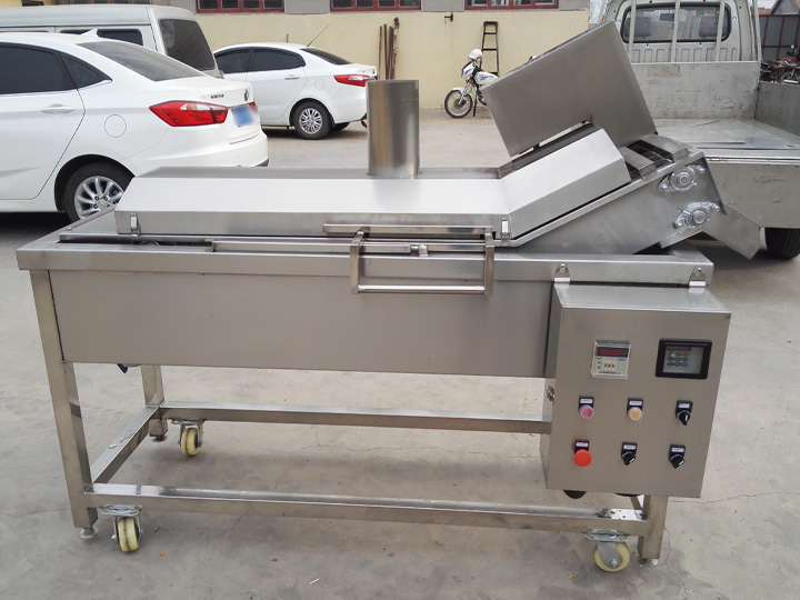small commercial continuous snack fryer