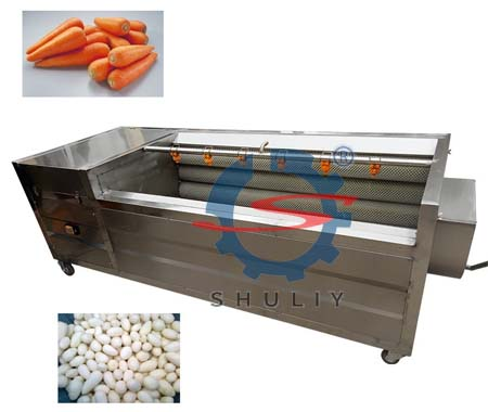 High efficient brush roller peeling and washing machine 2