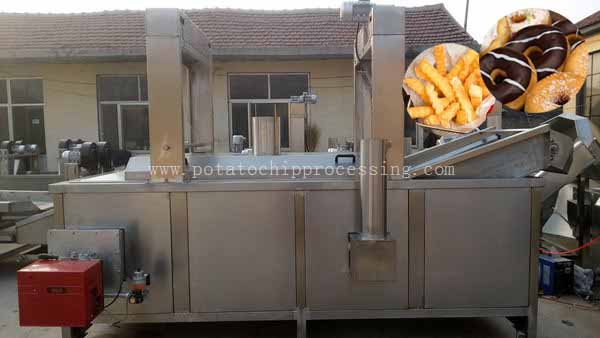 Continuous fryer machine on sale