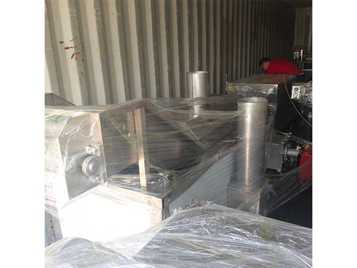 potato frying machine delivered to Indonesia