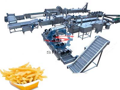 fully automatic French fries production line