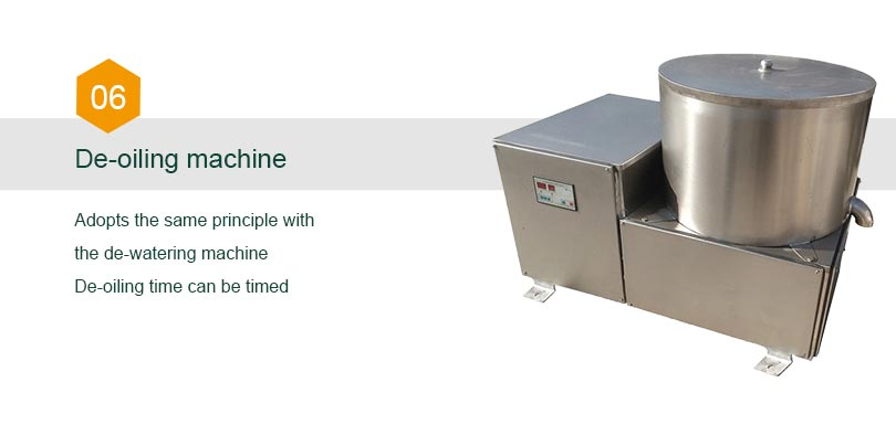 de-oiling machine for chips