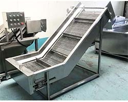 hoist in the chips processing line