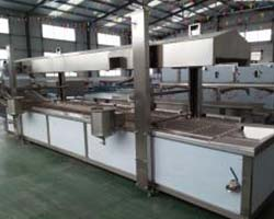 industrial continuous potato chips frying machine