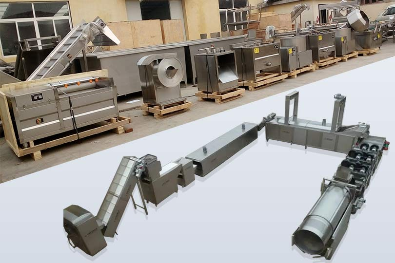 small and automatic Potato chip assembly line