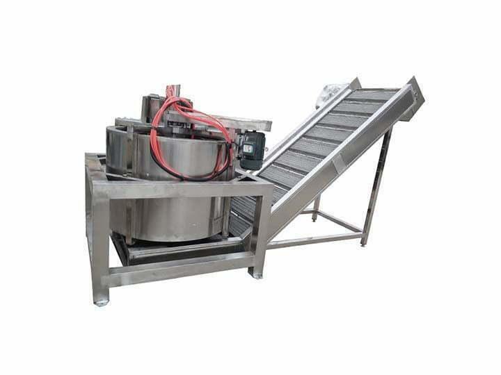 Bottom discharge de-oiler machine