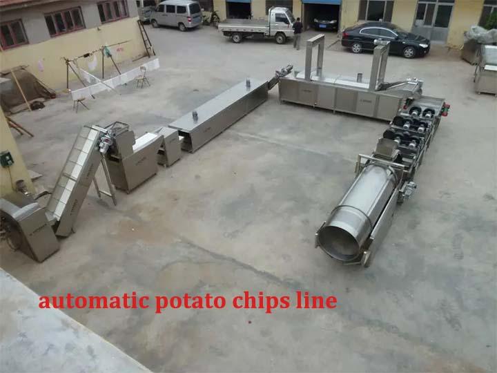 automatic potato chips line