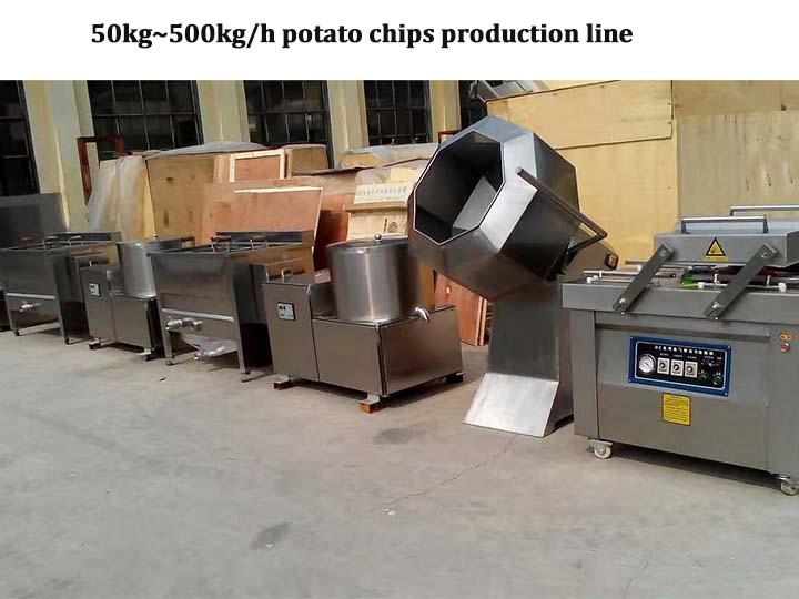 small potato chip assembly line