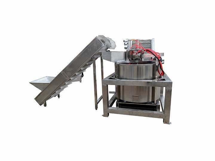upper discharge chips de-oiling machine