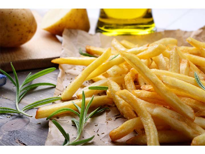 frozen french fries processing plant to produce fries