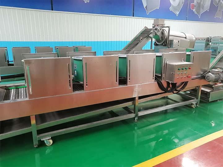 production line of potato chips