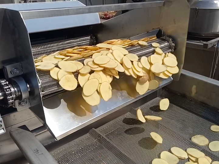 fried chips production in factory